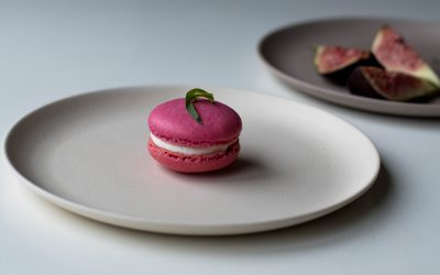 Goat's cheese and figs macarons