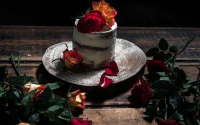 Lemon poppyseed cake with elderflower buttercream