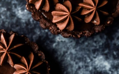 Hazelnut chocolate tarts