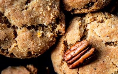 Brown butter pecan caramel cookies
